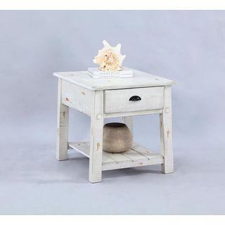 Distressed Veneer End Table