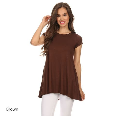 MOA Collection Women's Solid Knit Shirt