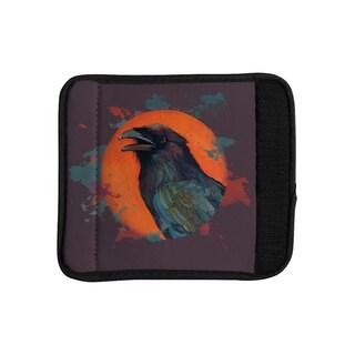 KESS InHouse Lydia Martin 'Raven Sun Alternate' Orange Purple Luggage Handle Wrap