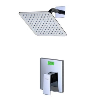 Sumerain Wall-mount Digital Temperature Display Back-light LCD Thermal Shower Faucet