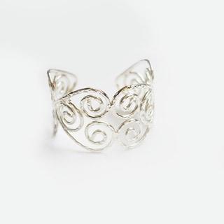 Swirl Design Sterling Silver Cuff Bracelet