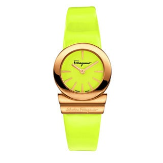 Ferragamo Women's FD8030014 GANCINO SOIREE Yellow Leather Watch