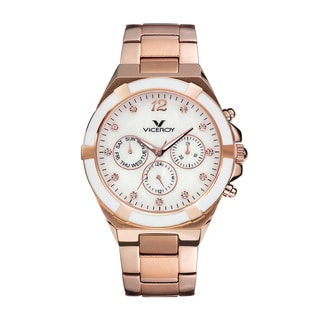 Viceroy Womens 47638-95 Gold Stainless Steel Watch