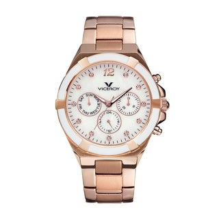 Viceroy Womens Gold Stainless Steel Watch