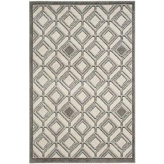 Safavieh Amherst Geneva Modern Indoor/ Outdoor Rug (3 x 5 - Ivory/Light Grey)