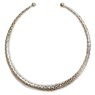 Sterling Silver Overlay High Polished Adjustable Choker Necklace