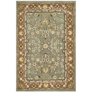 Safavieh Hand-hooked Total Perform Sage/ Copper Acrylic Rug (4' x 6')
