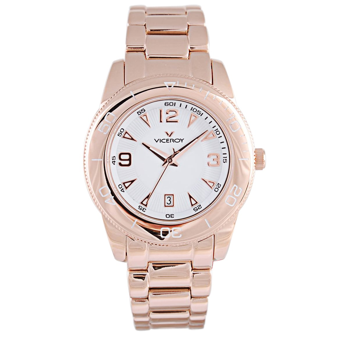 Viceroy Womens 47602-05 Gold Stainless Steel Watch (White...