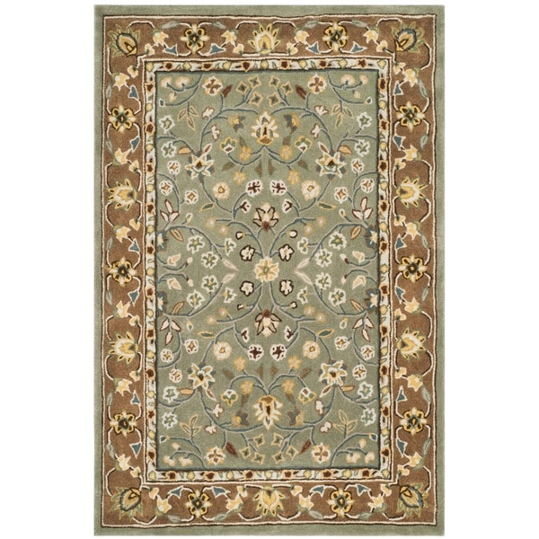 Safavieh Hand-hooked Total Perform Sage/ Copper Acrylic Rug - 8' x 10'