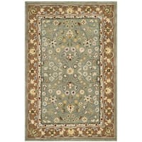 Safavieh Hand-hooked Total Perform Sage/ Copper Acrylic Rug - 6' x 9'