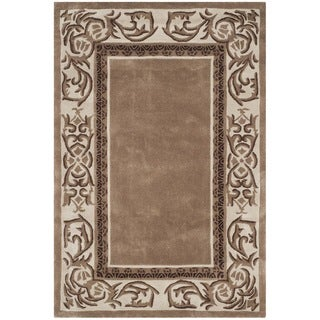 Safavieh Hand-hooked Total Perform Mocha/ Ivory Acrylic Rug (2' x 3')