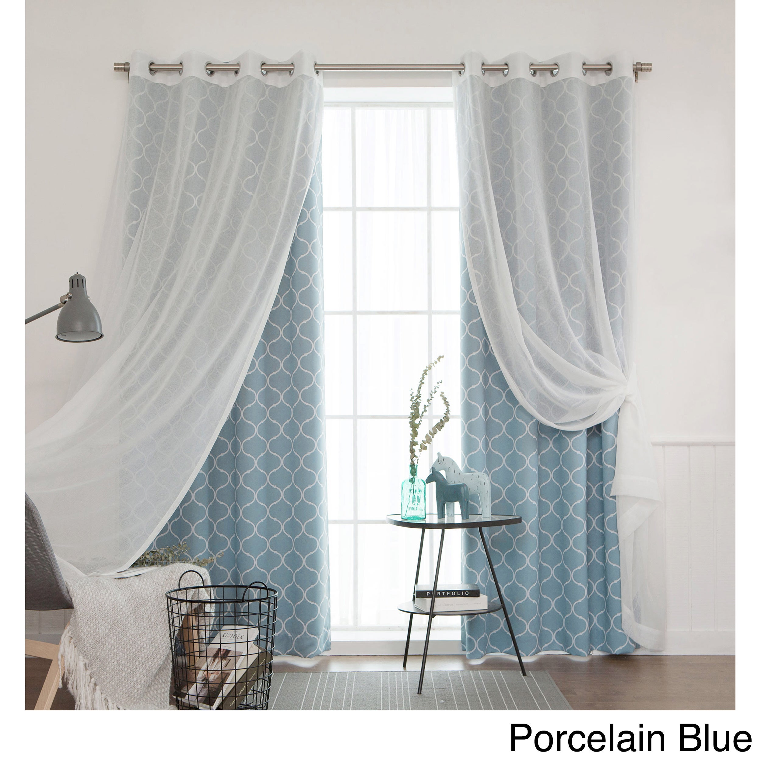 Aurora Home Mix Amp Match Curtains Blackout Tulle Lace Sheer