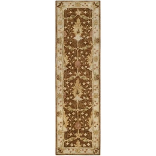 Safavieh Handmade Antiquity Brown/ Beige Wool Rug (2' 3 x 8')