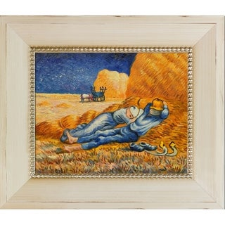 Vincent Van Gogh 'Noon: Rest From Work' Hand Painted Framed Canvas Art