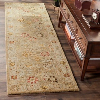 Safavieh Handmade Antiquity Taupe/ Beige Wool Rug (2' 3 x 8')