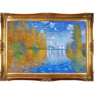 Claude Monet 'Autumn at Argenteuil' Hand Painted Framed Canvas Art