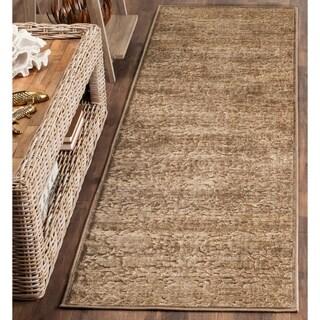 Safavieh Martha Stewart Collection Soft Anthracite/ Camel Viscose Rug (2' 2 x 6')