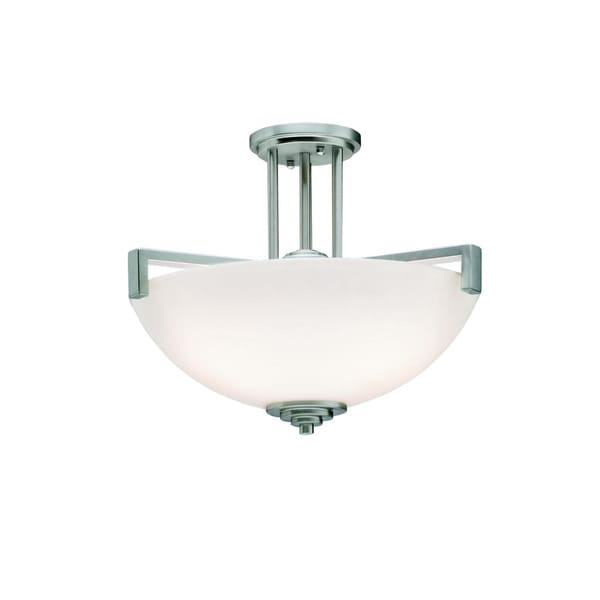 Kichler Lighting Eileen Collection 3-light Brushed Nickel Mini Pendant/Semi Flush Mount