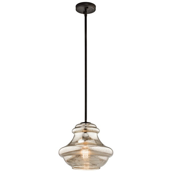 Kichler Lighting Everly Collection 1-light Olde Bronze Pendant 12 inch Diameter