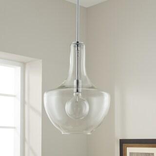 Kichler Lighting Everly Collection 1-light Chrome Pendant 13.75 inch Diameter
