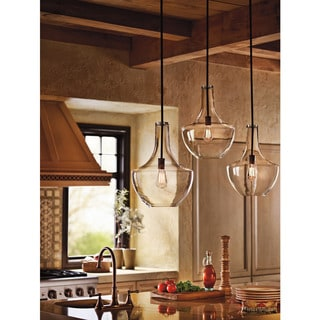 Kichler Lighting Everly Collection 1-light Olde Bronze Pendant