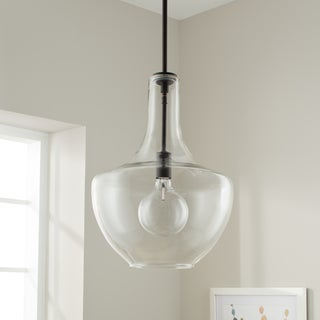 Kichler Lighting Everly Collection 1-light Olde Bronze Pendant 13.75 inch Diameter