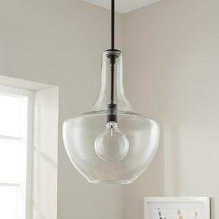 Kichler Lighting Everly Collection Olde Bronze 13.75-inch diameter 1-light pendant