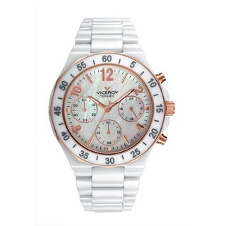 Viceroy Womens 47600-95 White Ceramic Watch