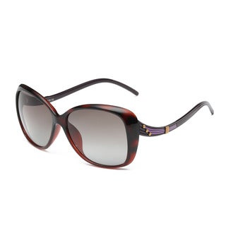 Gradient Dark Red Square Sunglasses with Dark Grey Lens and Gradient Dark Red Curvy Arms