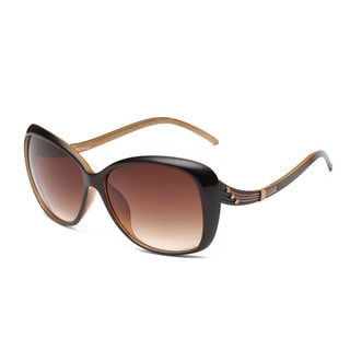 Unisex Tawny Lens Brown/Amber Acetate Curvy Arms Square Sunglasses