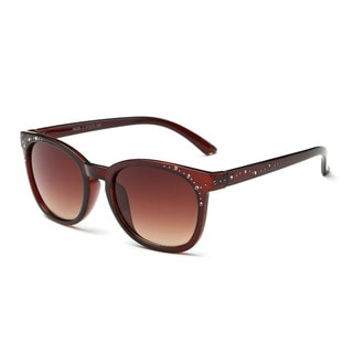 Chestnut with White Dots Acetate Frame Square Sunglasses with Tawny 51-millimeter Lens and Chestnut Arms