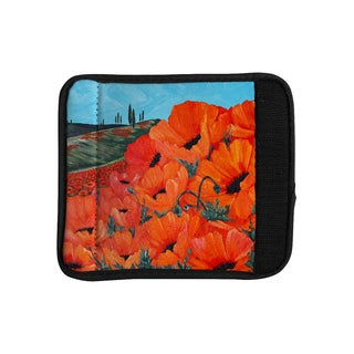 KESS InHouse Christen Treat 'Poppies' Luggage Handle Wrap