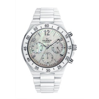 Viceroy Womens 47600-05 White Ceramic Watch