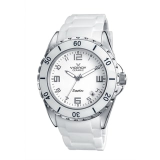 Viceroy Womens 47564-05 White Rubber Watch