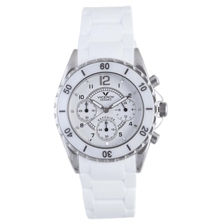 Viceroy Womens 47562-05 White Rubber Watch