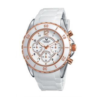 Viceroy Womens 47562-95 White Rubber Watch