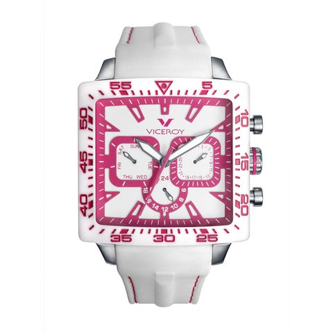Viceroy Womens White Rubber Watch