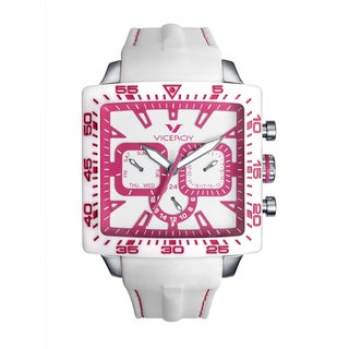 Viceroy Womens 432101-95 White Rubber Watch