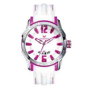 Viceroy Womens 42117-75 White Rubber Watch