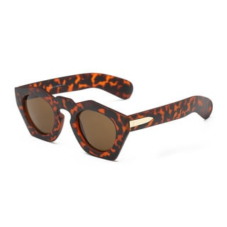 Tortoise Pentagon Sunglasses with Tawny Lens