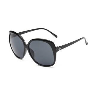 Black Acetate Oval Full-frame Sunglasses