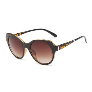 Dark Red Oval Gradient Sunglasses with 54-millimeter Tawny Lens and Tortoise Arms
