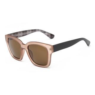 Wayfarer Brown Acetate Rectangular Full-frame Sunglasses