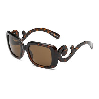 Dolly Turtoise Acetate Rectangular Full-frame Sunglasses