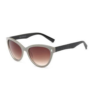 Beige Frame Cat-eye Sunglasses With 55-millimeter Tawny Lens and Shiny Black Arms