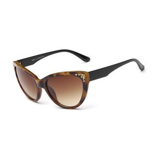 Tortoiseshell Framed Acetate 51-millimeter Cat-eye Sunglasses With Tawny Lens and Shiny Black Arms