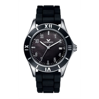 Viceroy Womens 40670-55 Black Rubber Watch