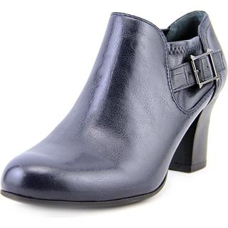 Franco Sarto Women's Rapport Blue Faux Leather Ankle Boots
