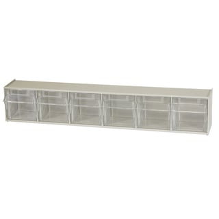 Akro-Mils TiltView Tan Plastic 6-bin Cabinet
