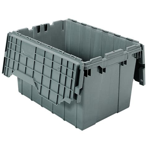 Akro-Mils Grey 12 gal. Attached-lid Container (pack of 6)